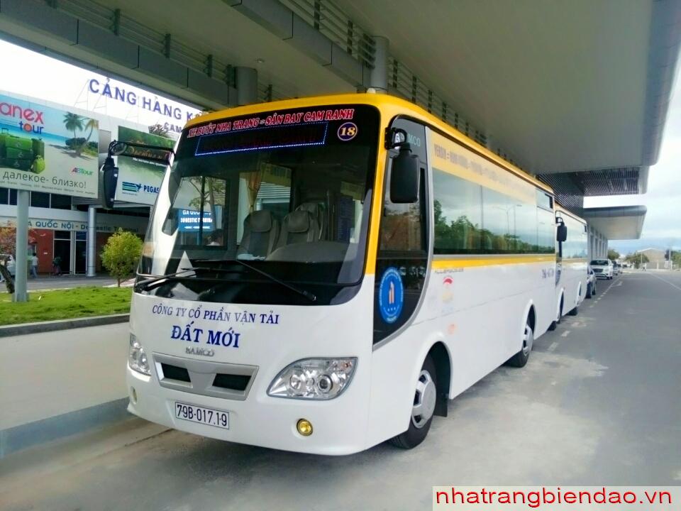 Xe buýt sân bay Cam Ranh giá chỉ 50k (đưa đón tận nơi)